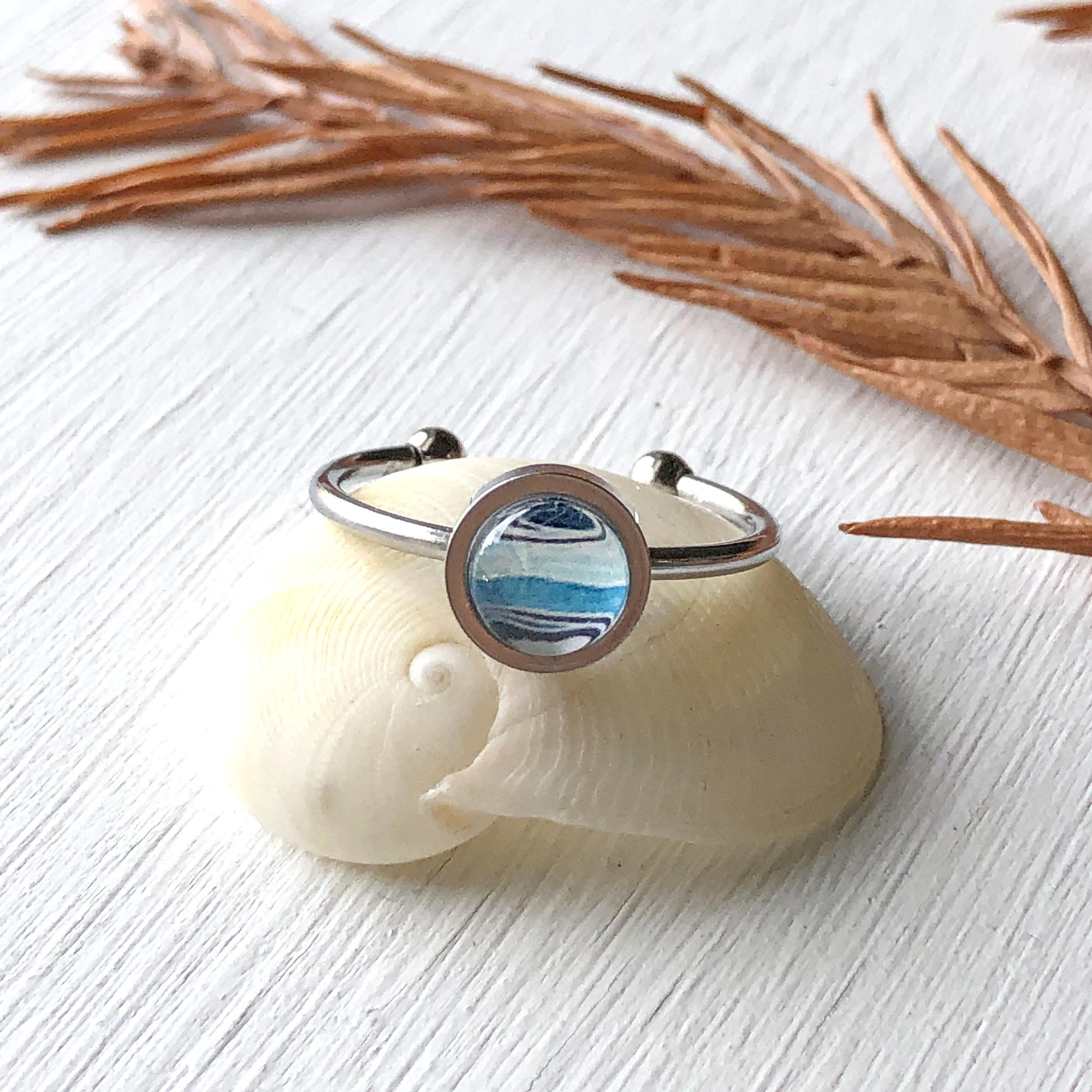 Ocean - Adjustable Tiny Ring