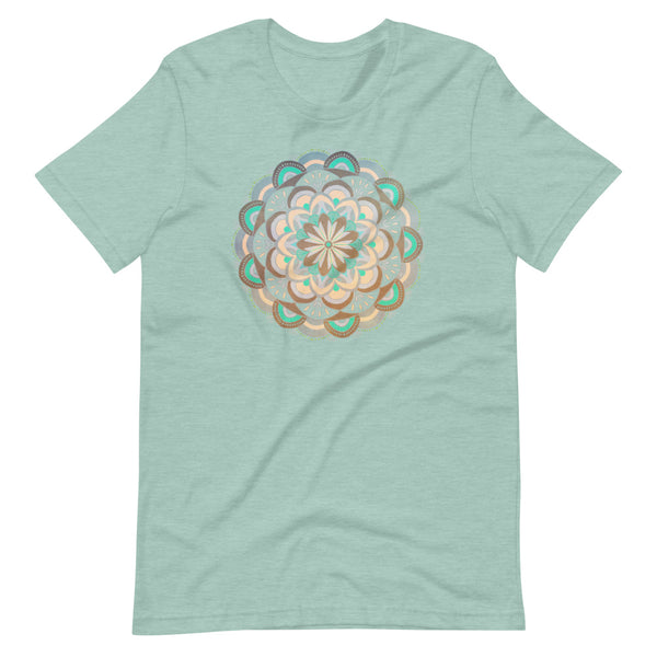 Oxcart Wheel Mandala - Bella + Canvas -UNISEX- Short Sleeve T-Shirt
