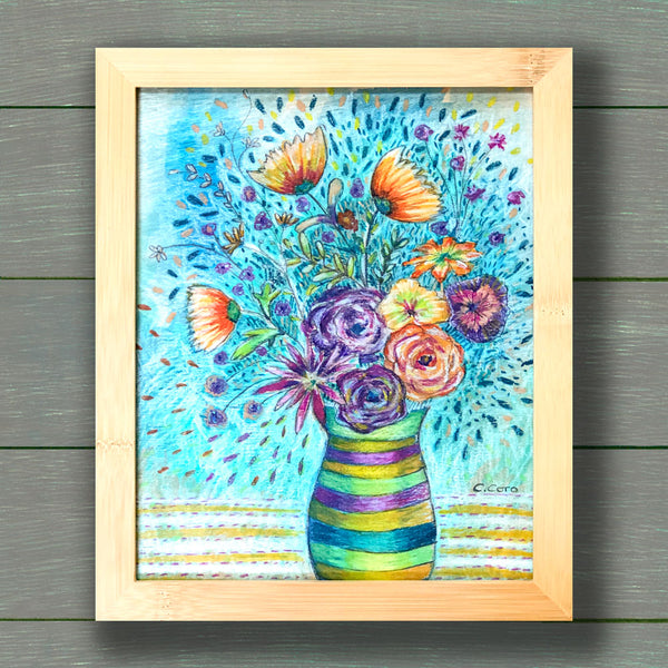 Pastel Bouquet - Framed