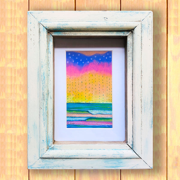 Pastel Seascape III - Framed