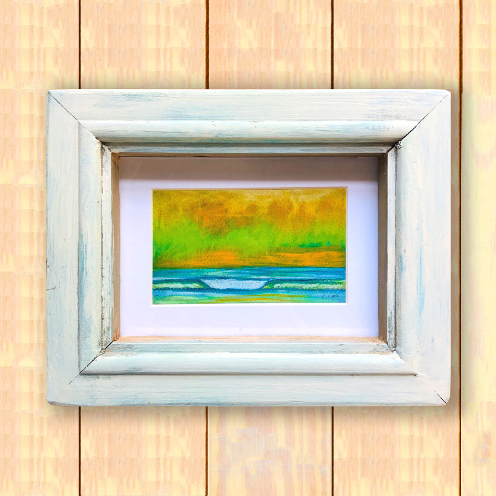 Pastel Seascape IV - Framed