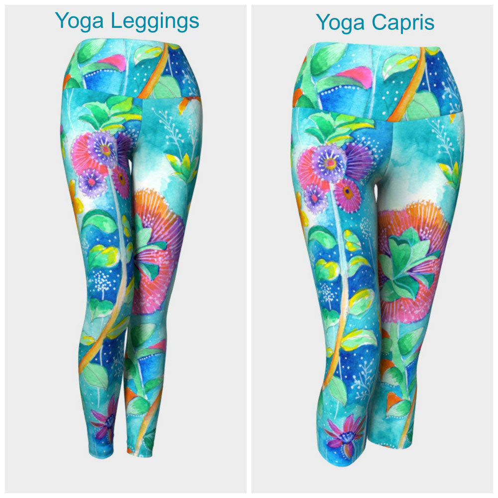 Floral IV Leggings or Capris