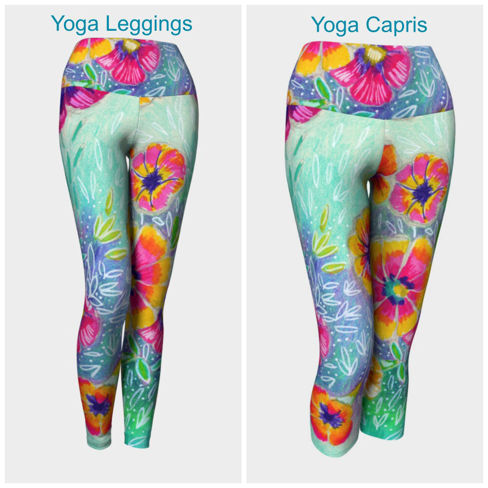Wild Flowers Leggings or Capris
