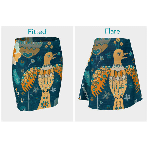 Folk Garden Skirt (Fitted or Flare)