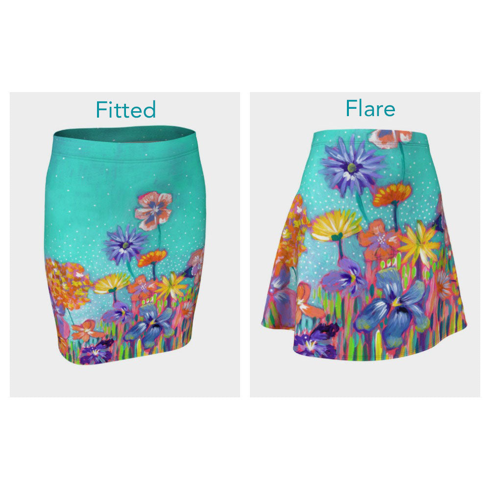 Little Garden Skirt (Fitted or Flare)