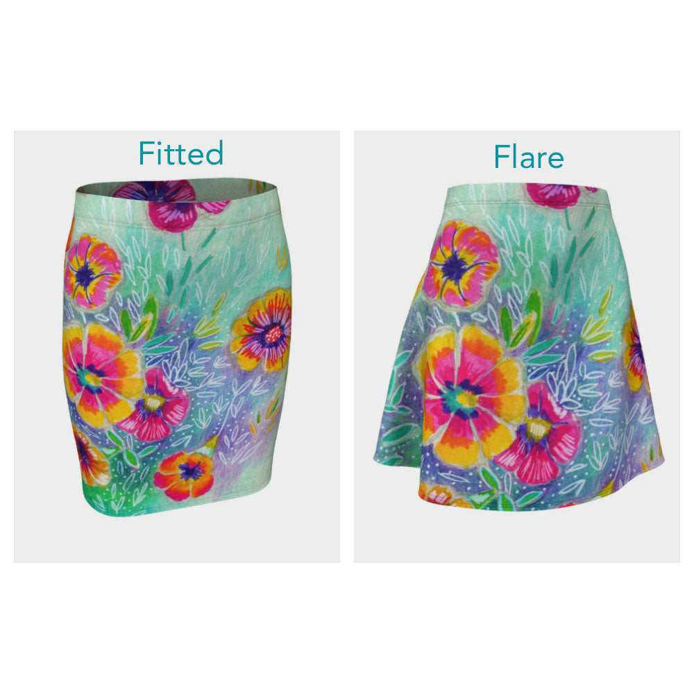 Wild Flowers Skirt (Fitted or Flare)