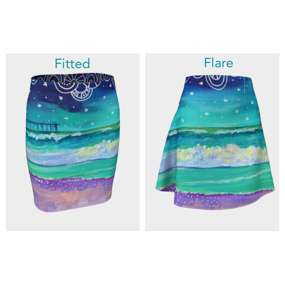 Night Pier Skirt (Fitted or Flare)