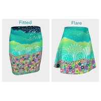 Flowers Field Skirt (Fitted or Flare)