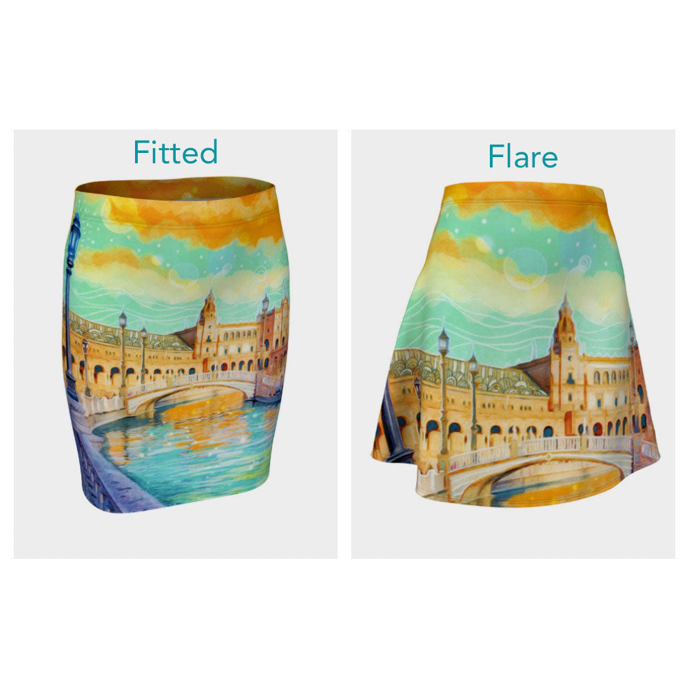 Water Reflections Skirt (Fitted or Flare)
