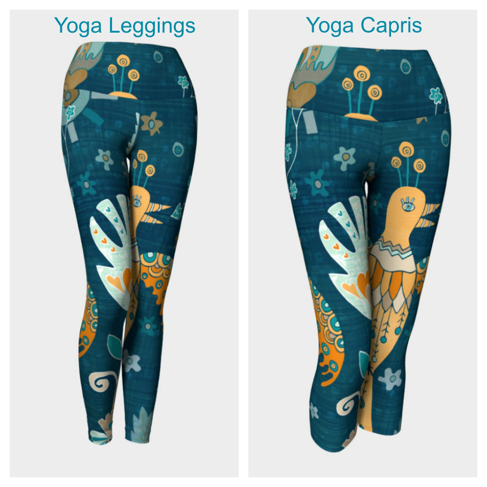 Folk Garden Leggings or Capris