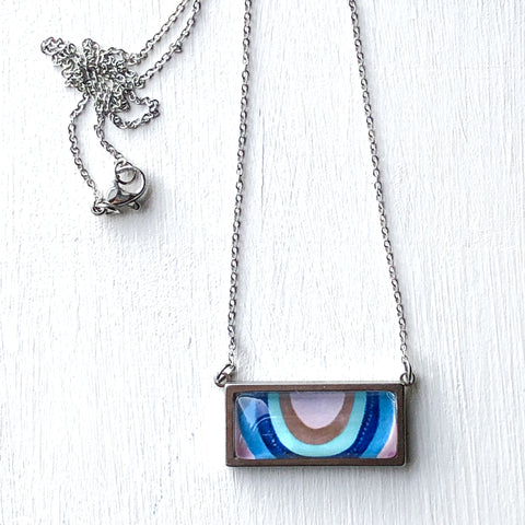 Rainbow - Bar Necklace