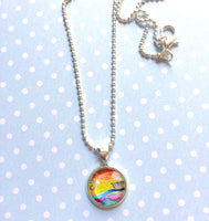 """Sailing in Stormy Seas"" Mini Circle Necklace"