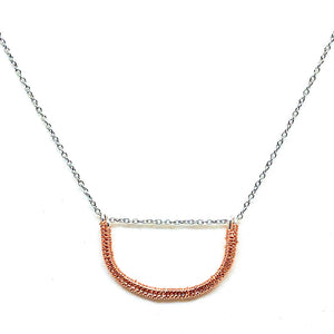 Sand Dune at Sunset - Wirework Necklace