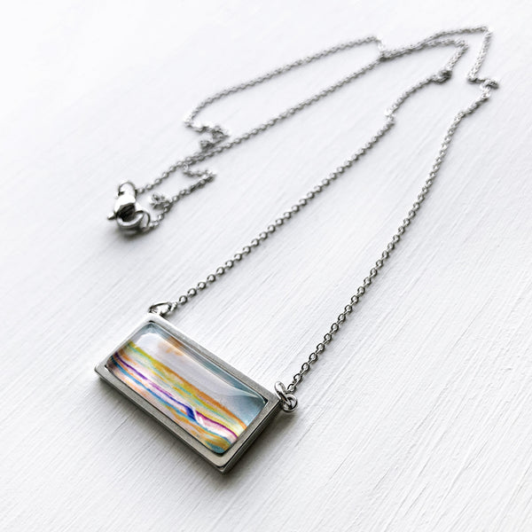 Simple Seascape V - Bar Necklace