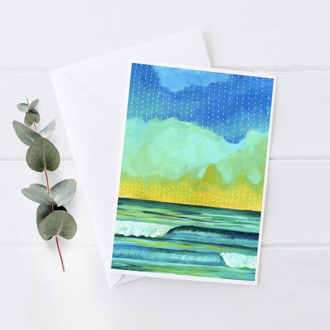 Simple Seascape XV - 5x7 Notecard