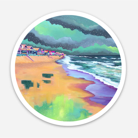 Spring Beach Scene Sticker