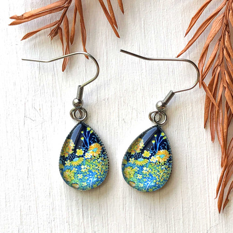 Spring Night - Stainless Steel Earrings