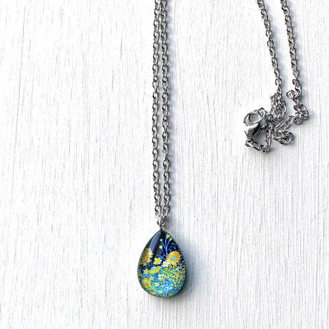 Spring Night - Stainless Steel Teardrop Necklace or Set
