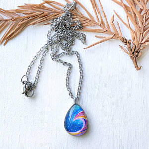 Stardust - Stainless Steel Teardrop Necklace or Set