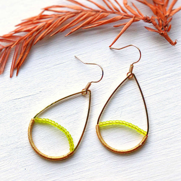 Summer Heat - Wire and Beads Earrings