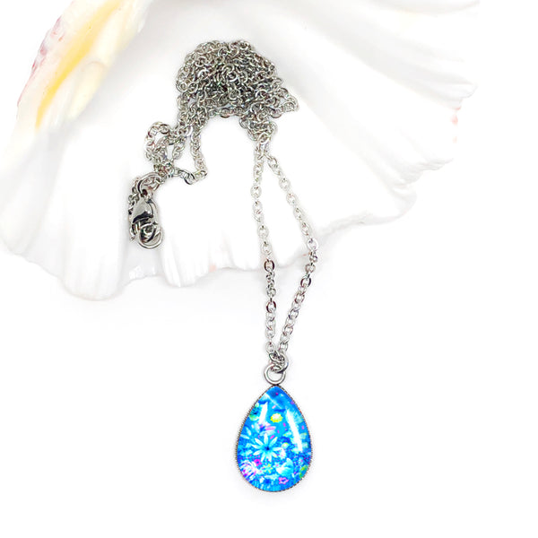 The Garden II - Stainless Steel Teardrop Necklace or Set