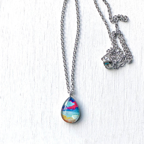 The Storm Is Coming II - Stainless Steel Teardrop Necklace or Set