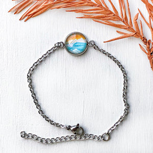 Turquoise Waters - Stainless Steel Dainty Bracelet