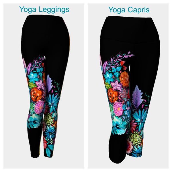Vibrant Bouquet Leggings or Capris