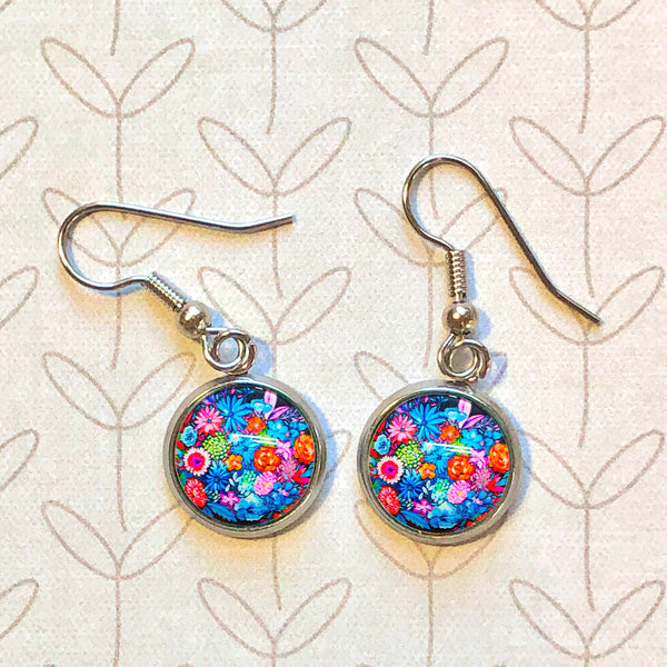 Vibrant Bouquet - Dangle, Stud or Leverback Earrings