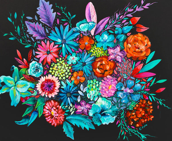 Vibrant Bouquet - Framed