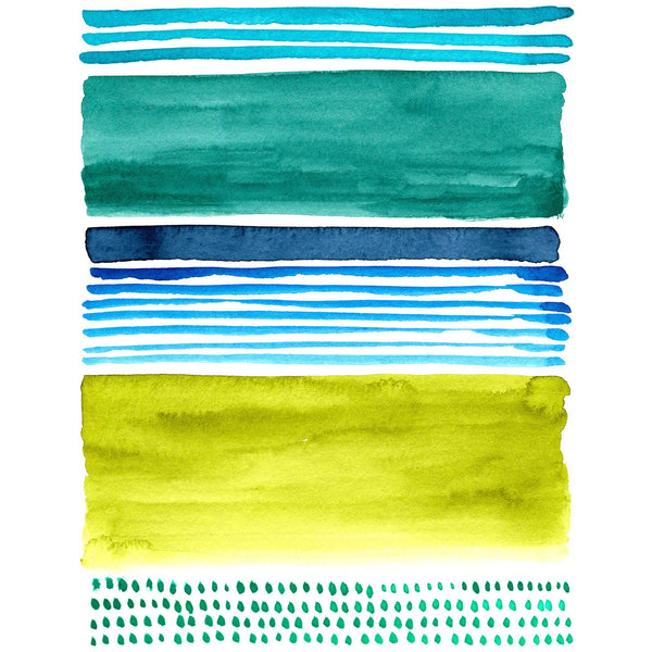 Watercolor Blocks III