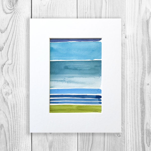 Watercolor Blocks IV - Unframed, Matted to Standard Frame Size