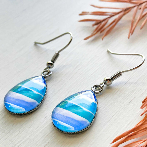 Watercolor Blocks - Stainless Steel Earrings