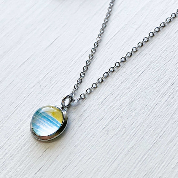 Dainty Necklace - Watercolor Lines I