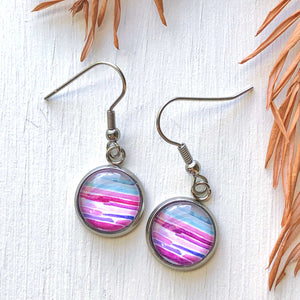 Watercolor Lines II - Dangle, Stud or Leverback Earrings