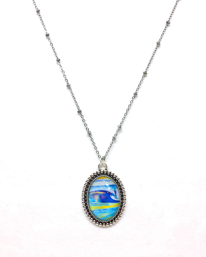 """Wave 2.2"" - Vintage Oval Necklace"