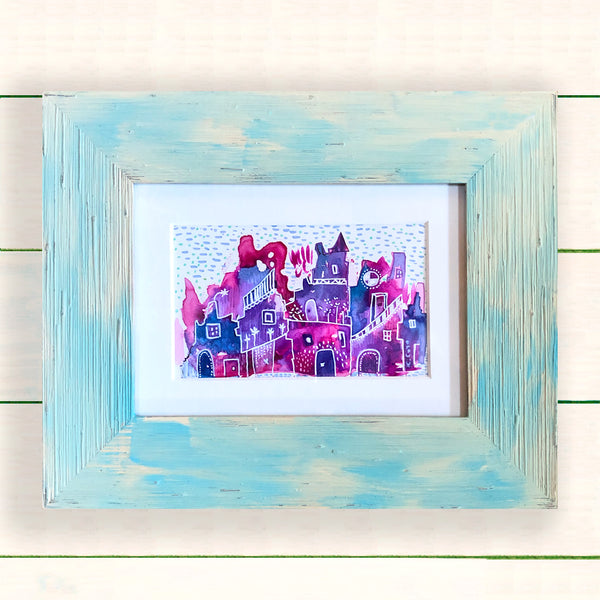 Whimsical Town I - Framed