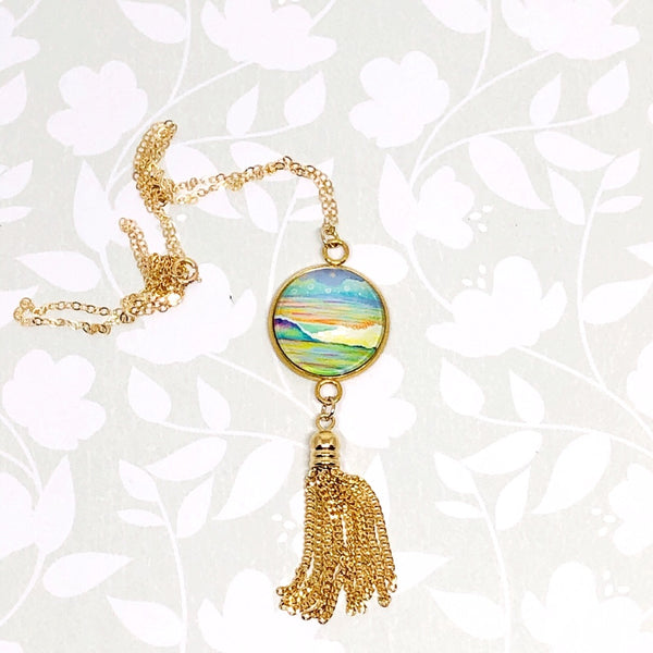 Wave 2.0 - Gold Filled Chain Tassel Necklace