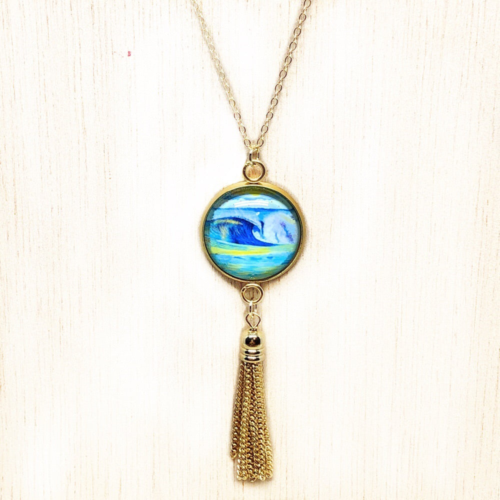 Wave 2.2 - Gold Filled Chain Tassel Necklace