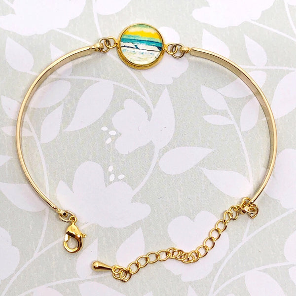 Loose Wave - Gold Plated Dainty Bracelet