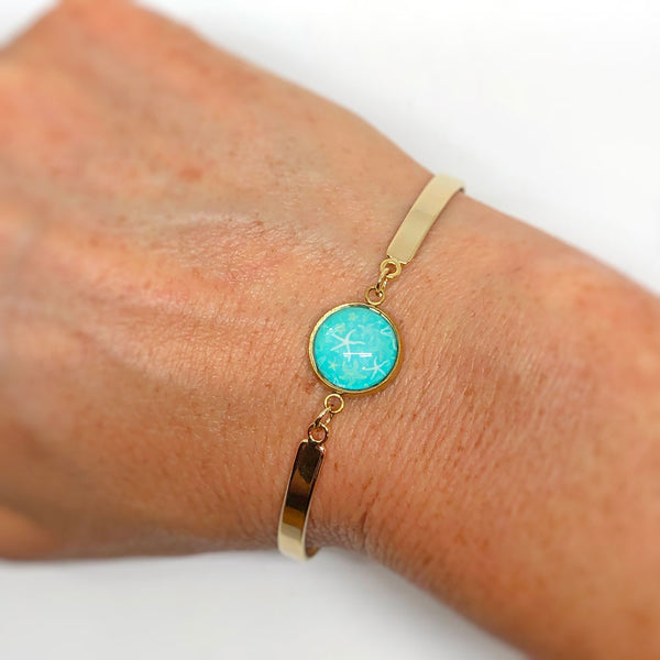 Starfish Pattern - Gold Plated Dainty Bracelet