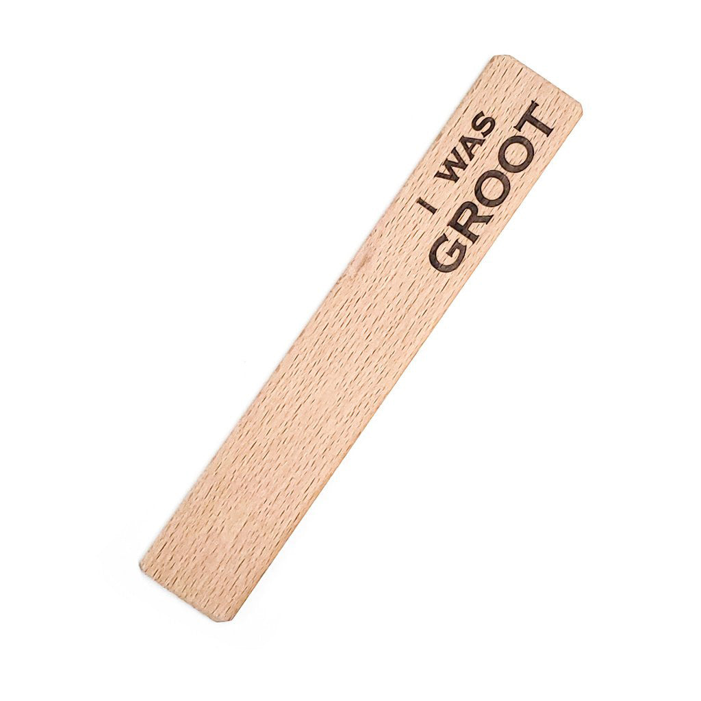 I was Groot Wood Bookmark