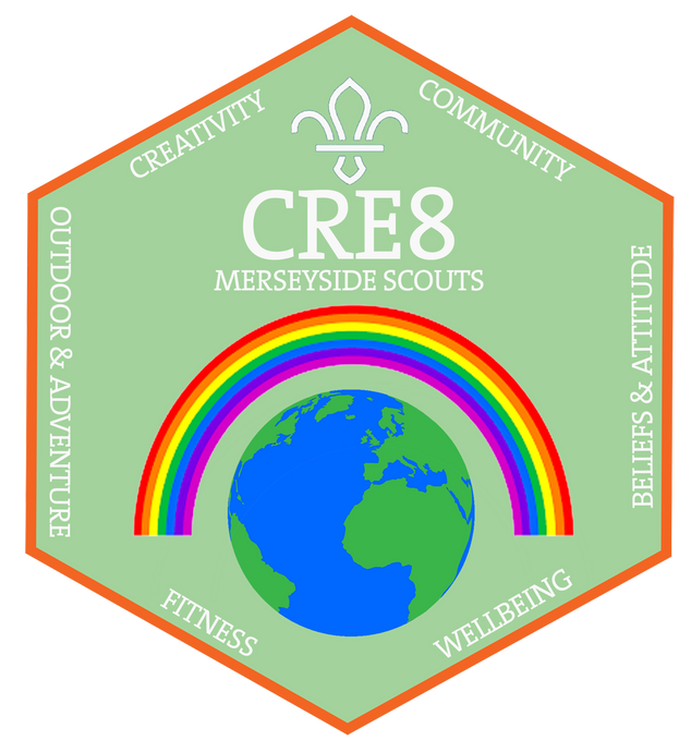 CRE8 badges available to order online.