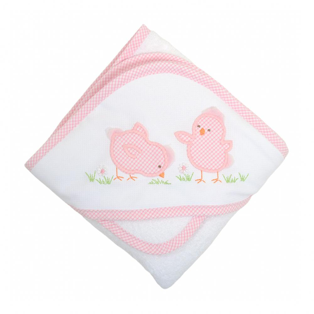 Pink Chick Boxed Hooded Towel & Washcloth Set