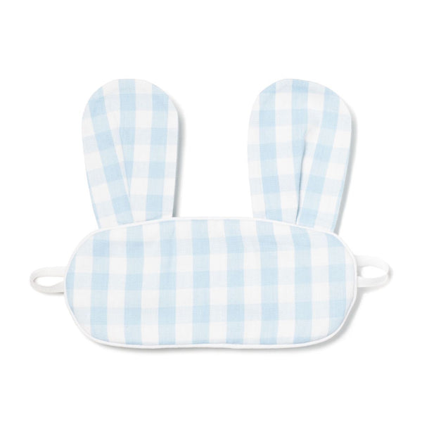 Light Blue Gingham Bunny Eye Mask