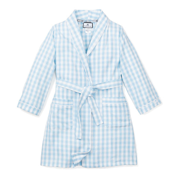 Light Blue Gingham Robe
