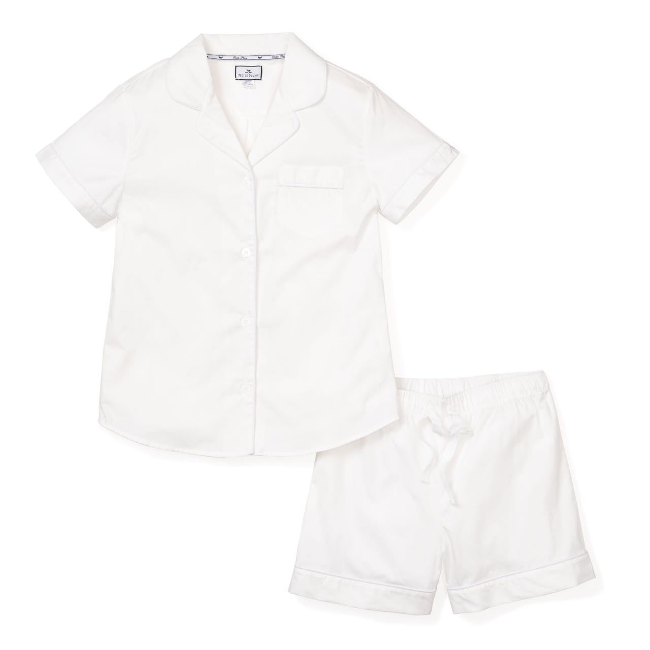 Classic Summer Short Set White