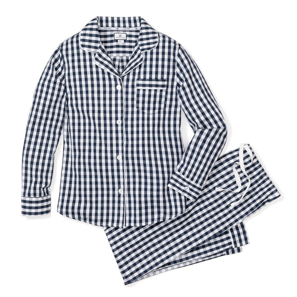 Men's Navy Gingham Twill Pajamas