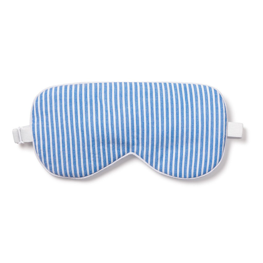 Blue Seersucker Kitty Eyemask