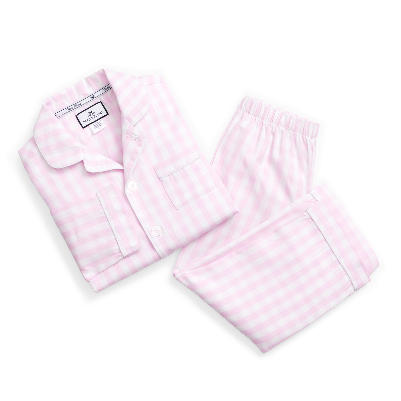 Pink Gingham PJ Set